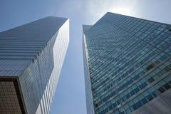Arquitectura moderna de Manhattan Imagen de archivo libre de regalías