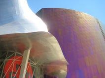 Arquitectura moderna del acero inoxidable en el EMP Mus imagenes de archivo