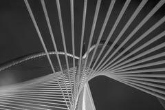 Arquitectura moderna del puente - Jambatan Seri Wawasan Foto de archivo libre de regalías