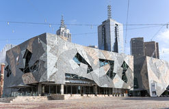Arquitectura moderna, edificios, cuadrado de la federación, Melbourne Imagen de archivo