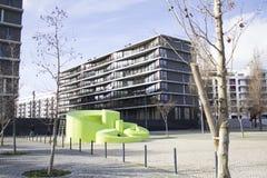 Arquitectura moderna en el parque de naciones en Lisboa, Portugal fotografía de archivo libre de regalías