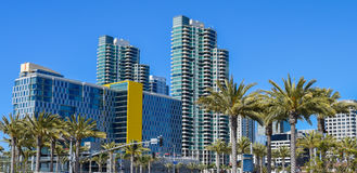 Arquitectura moderna en San Diego céntrico Fotos de archivo libres de regalías