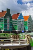 Arquitectura moderna en Zaandam - Países Bajos Imágenes de archivo libres de regalías