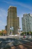 Arquitectura moderna inacabada en el distrito cuarto diagonal, Barcelona Fotografía de archivo libre de regalías