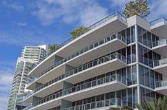 Arquitectura moderna moderna de Miami Beach ArchitectureUltra Imagen de archivo libre de regalías