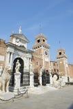 Arquitectura Porta Magna Arsenal de Venecia Italia imagen de archivo