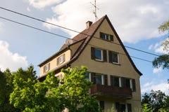 Arquitectura residencial alemana tradicional HistoricNeighborhood Foto de archivo