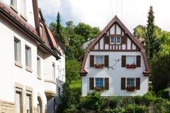 Arquitectura residencial alemana tradicional HistoricNeighborhood Imagenes de archivo