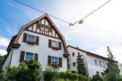 Arquitectura residencial alemana tradicional HistoricNeighborhood Imágenes de archivo libres de regalías