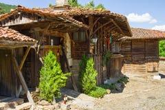 Arquitectura rural balcánica fotografía de archivo