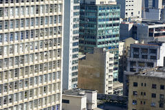 Arquitectura Sao Paulo del edificio del fondo Imagen de archivo libre de regalías