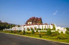 Arquitectura tailandesa de Ho Kham Luang Traditional en el estilo de Lanna Fotos de archivo libres de regalías