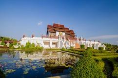 Arquitectura tailandesa de Ho Kham Luang Traditional en el estilo de Lanna Fotografía de archivo