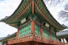 Arquitectura tradicional coreana - Bukchon es lugar único en Seo Imagen de archivo