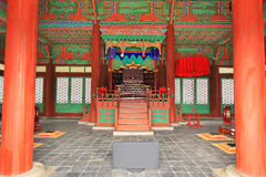 Arquitectura tradicional de Corea – Gyeongheuigung Imagen de archivo libre de regalías