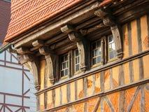 Arquitectura tradicional de Etretat, Normandía, Francia fotos de archivo libres de regalías