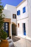 Arquitectura tradicional del pueblo de Chora en la isla de Kythera, Gre Foto de archivo