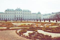 Arquitectura tradicional en ciudad vieja en Viena, Austria foto de archivo