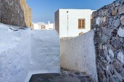 Arquitectura tradicional en el chora de la isla de Patmos, Dodecanese, Grecia Imagenes de archivo