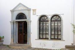 Arquitectura tradicional en el chora de la isla de Patmos, Dodecanese, Grecia Imágenes de archivo libres de regalías