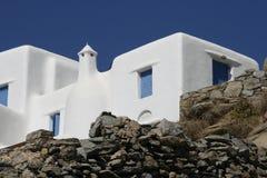 Arquitectura tradicional en Grecia Fotos de archivo