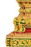 Arquitectura tradicional tailandesa exquisita - aislante Foto de archivo libre de regalías