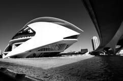 Arquitectura Valencia blanco y negro Imagen de archivo libre de regalías