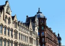 Arquitectura victoriana, Trongate, Glasgow, Escocia con el viejo Foto de archivo libre de regalías