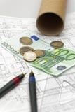 Arquitectura y euros Fotografía de archivo libre de regalías