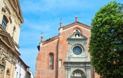 Arquitecturas de Casale Monferrato Foto de archivo libre de regalías