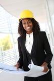 Arquiteto bonito da mulher Imagem de Stock Royalty Free