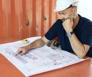 Arquiteto Career Structure Construction do modelo Imagens de Stock Royalty Free