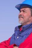 Arquiteto, contratante com chapéu duro Fotos de Stock Royalty Free
