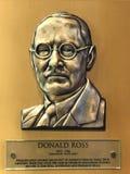Arquiteto Donald Ross do campo de golfe imagem de stock