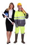 Arquiteto e carpinteiro fêmeas Imagens de Stock