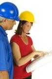 Arquiteto e contratante Imagem de Stock