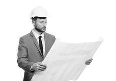 Arquiteto masculino maduro com um modelo foto de stock