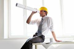 Arquiteto no escritório foto de stock