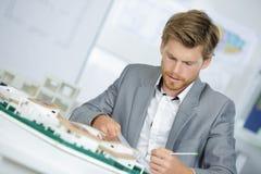 Arquiteto no trabalho no escritório Foto de Stock Royalty Free