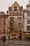Arquiteto Ohman de Storch do editor da casa em Praga Fotografia de Stock Royalty Free