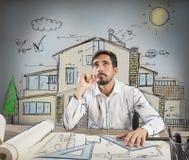 Arquiteto pensativo Imagem de Stock