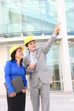 Arquitetos do homem e da mulher Foto de Stock Royalty Free