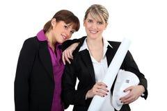 Arquitetos fêmeas Fotografia de Stock Royalty Free
