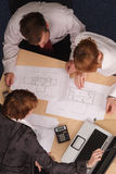 Arquitetos que brainstorming Imagem de Stock