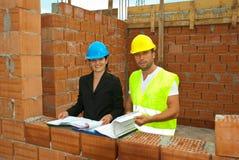 Arquitetos que trabalham no local Foto de Stock
