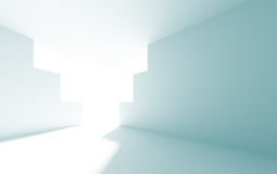 arquitetura 3d abstrata Imagens de Stock