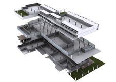 arquitetura 3d explodida. Ilustração do Vetor