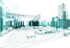 Arquitetura abstrata ilustração royalty free