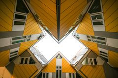 Arquitetura abstrata moderna do fundo foto de stock royalty free