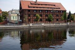 Arquitetura agradável em Bydgoszcz. Imagem de Stock